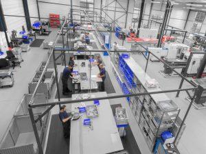 Montageabteilung von WSI in Leopoldshöhe